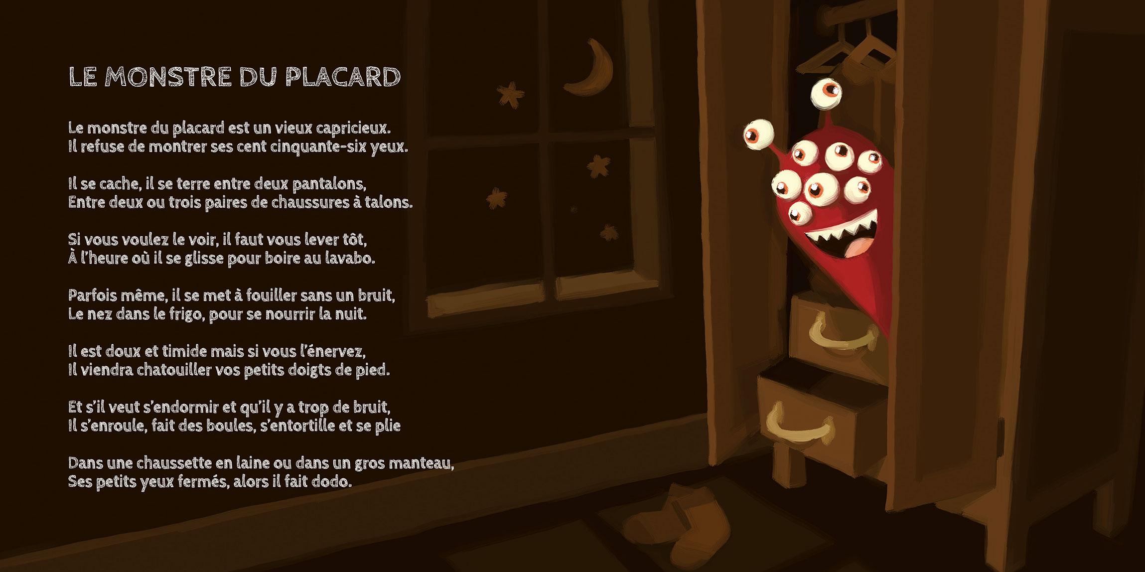 Illustration livre pour enfant «Petits Contes pour MONSTRES GENTILS»
