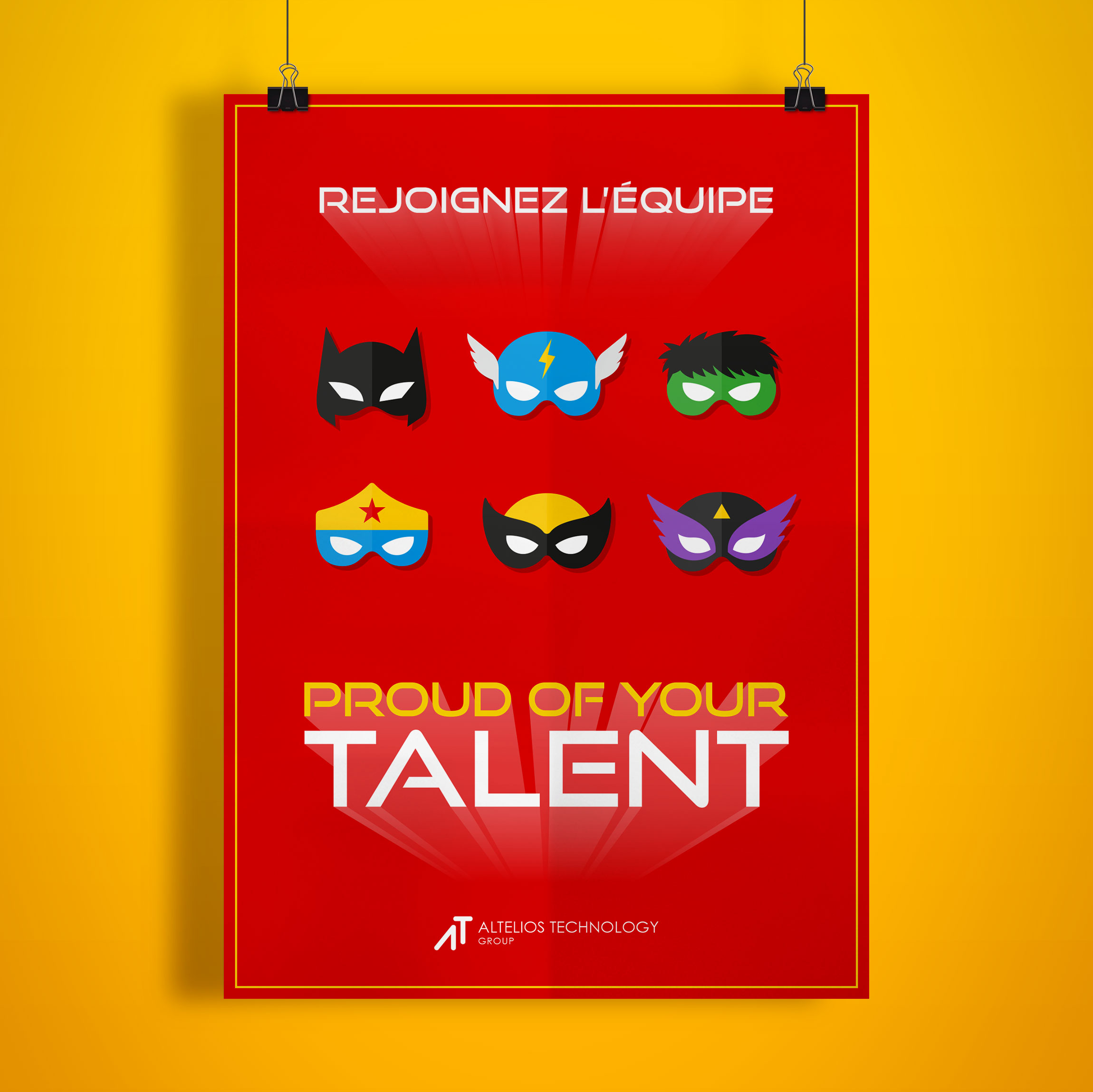 Création Affiche pour PROUD OF YOUR TALENT