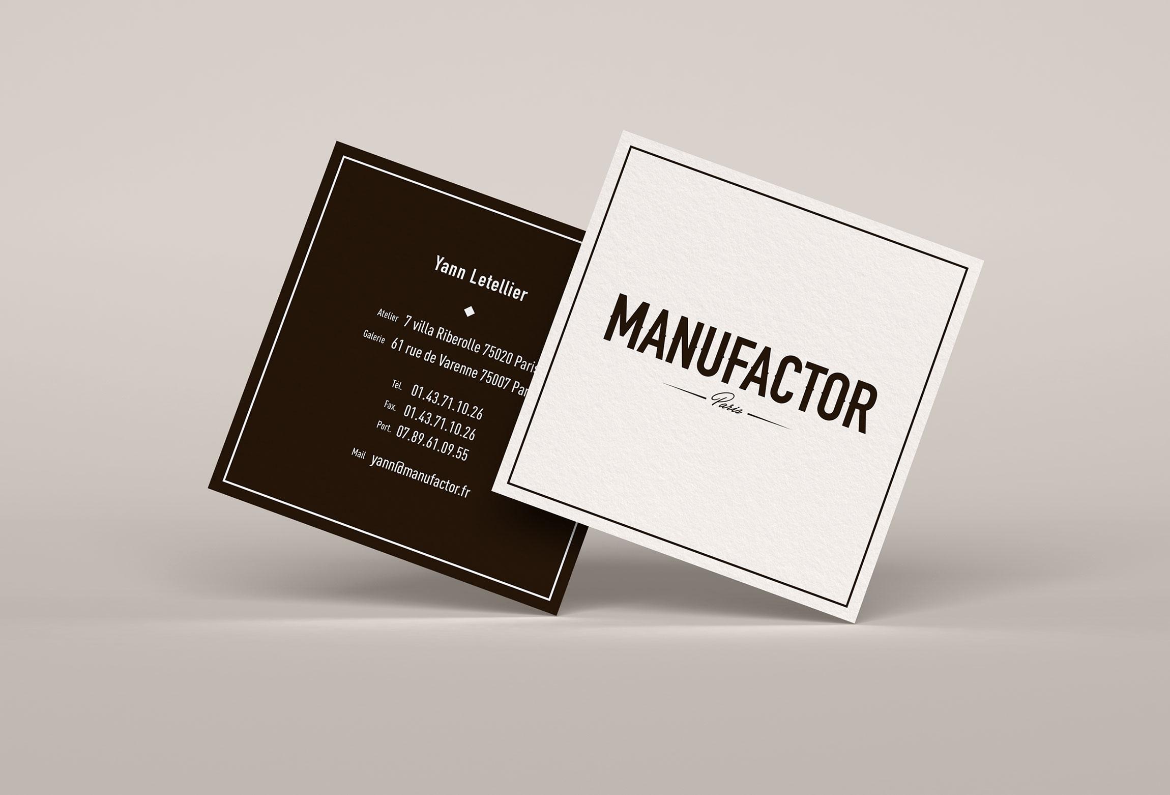 Création carte de visite MANUFACTOR