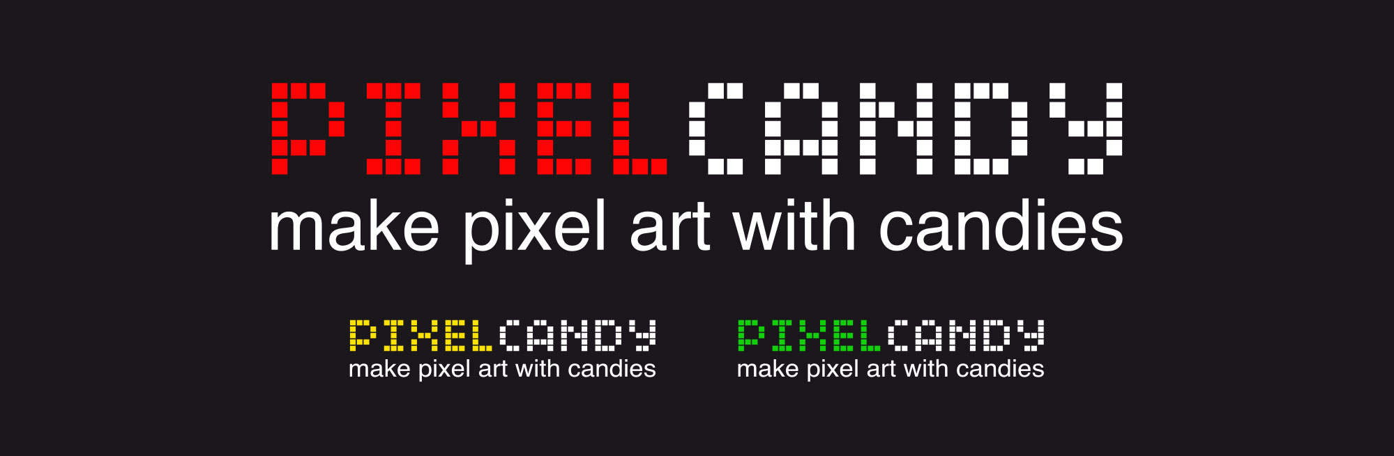 Création logo pixel candy.