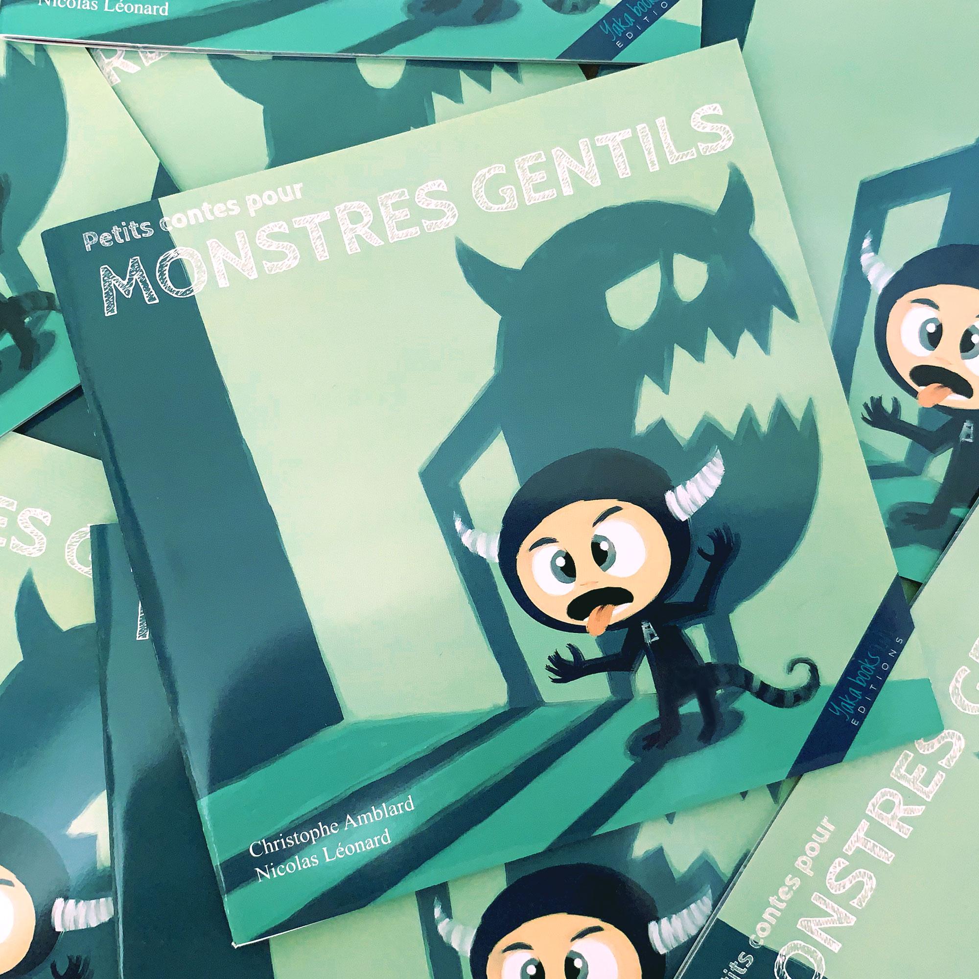 """Illustration livre pour enfant """"Petits Contes pour MONSTRES GENTILS"""""""
