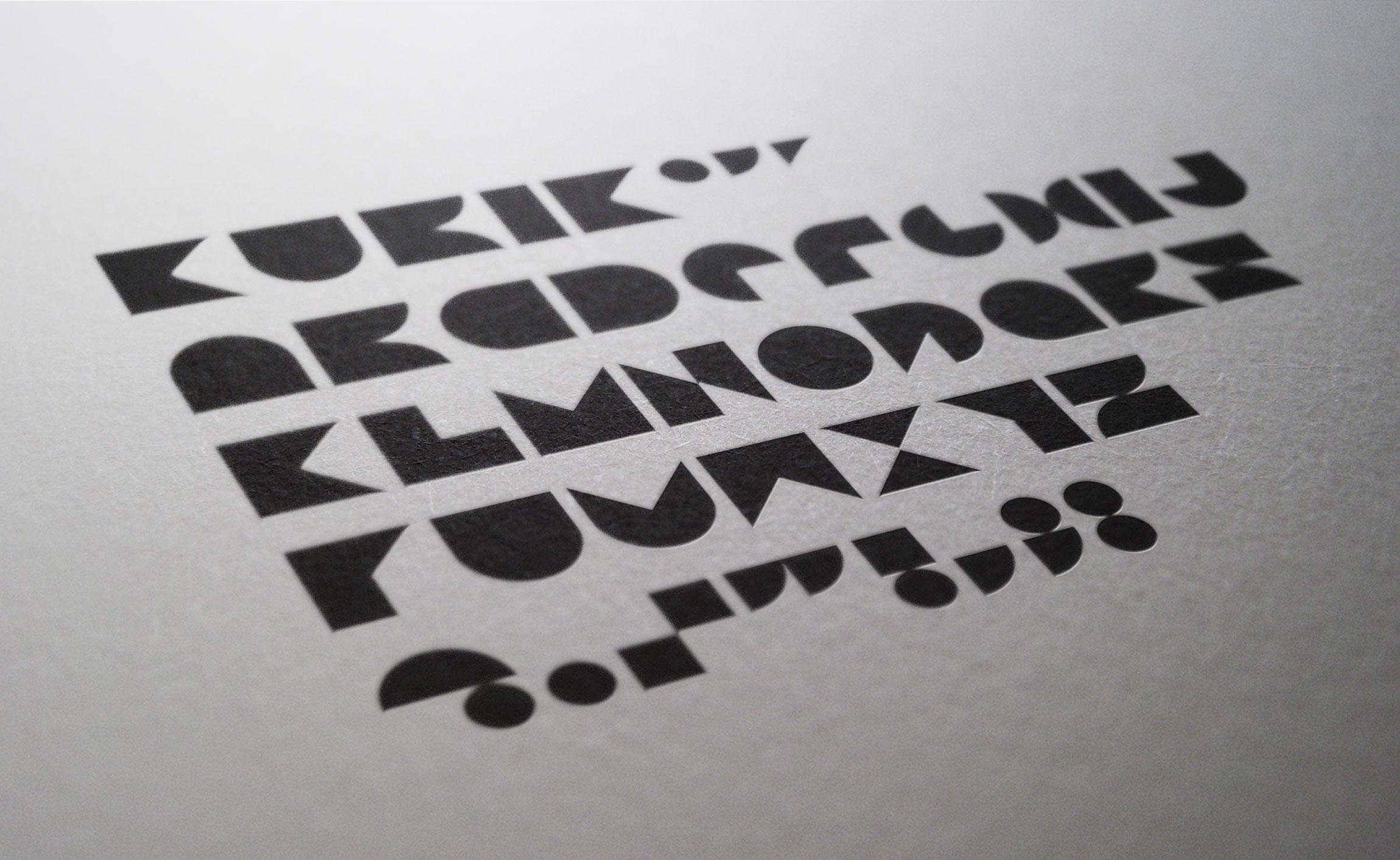 Création typographie pour KUBIK