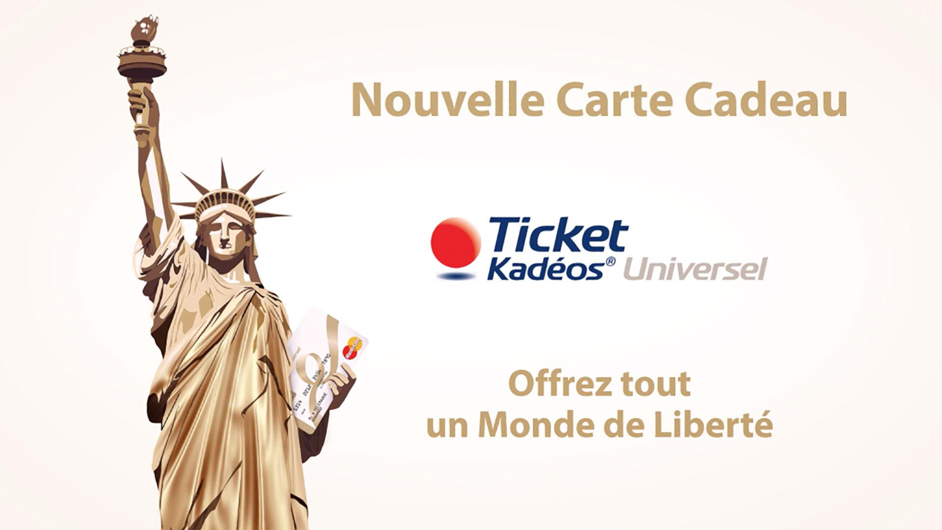 "Motion design, conception film explicatif ""Ticket Kadeos Universel"" pour Edenred"