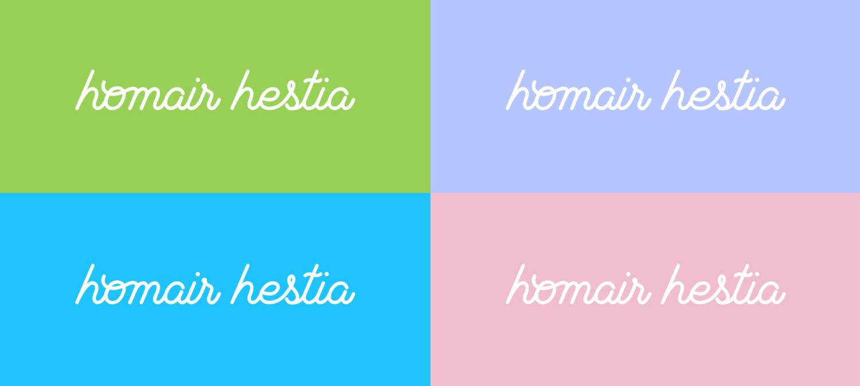 déclinaisons couleurs logo homair hestia