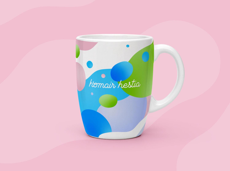 création visuel mug pour homair hestia