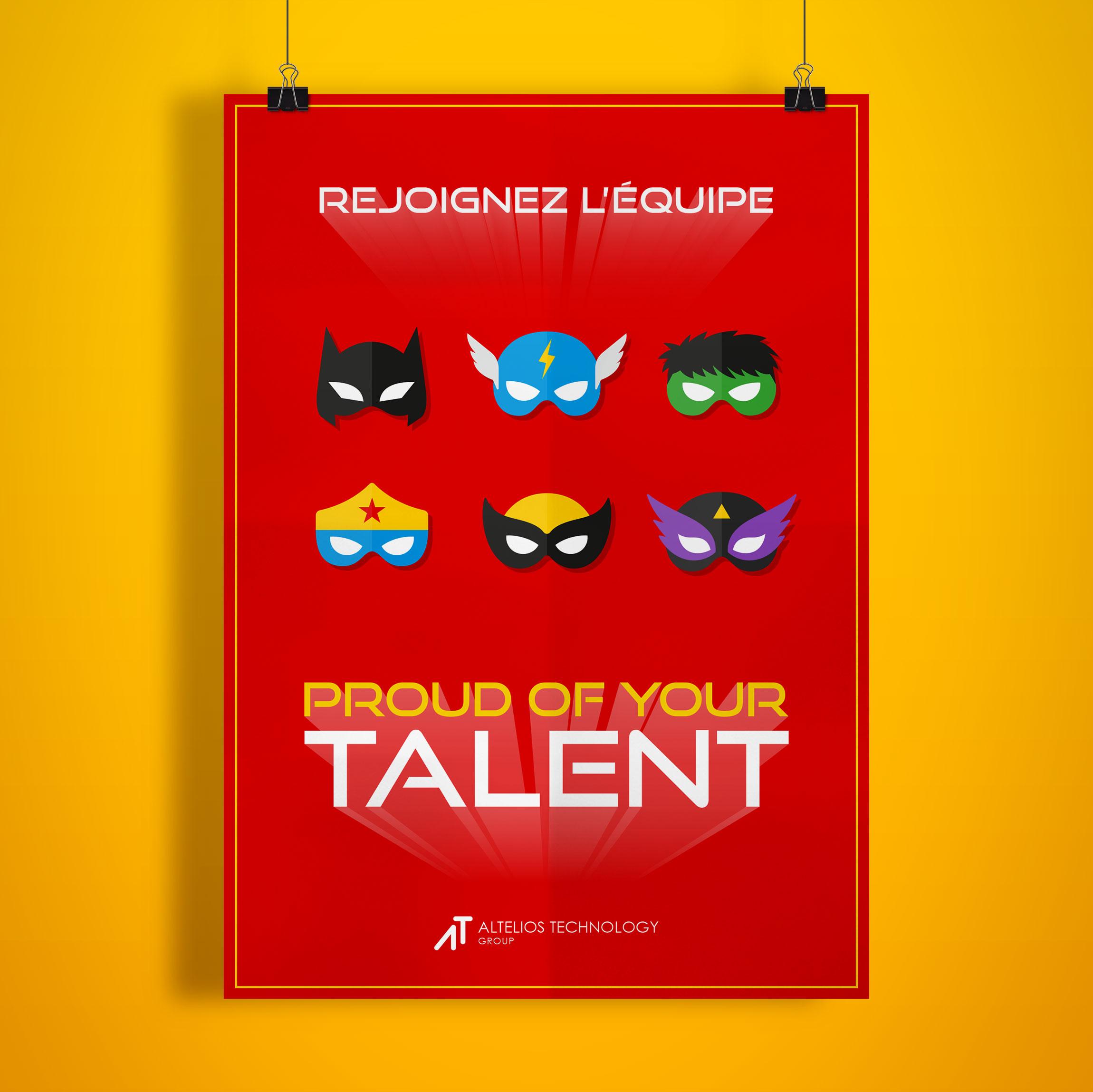 Création Affiche pour PROUD OF YOUR TALENT