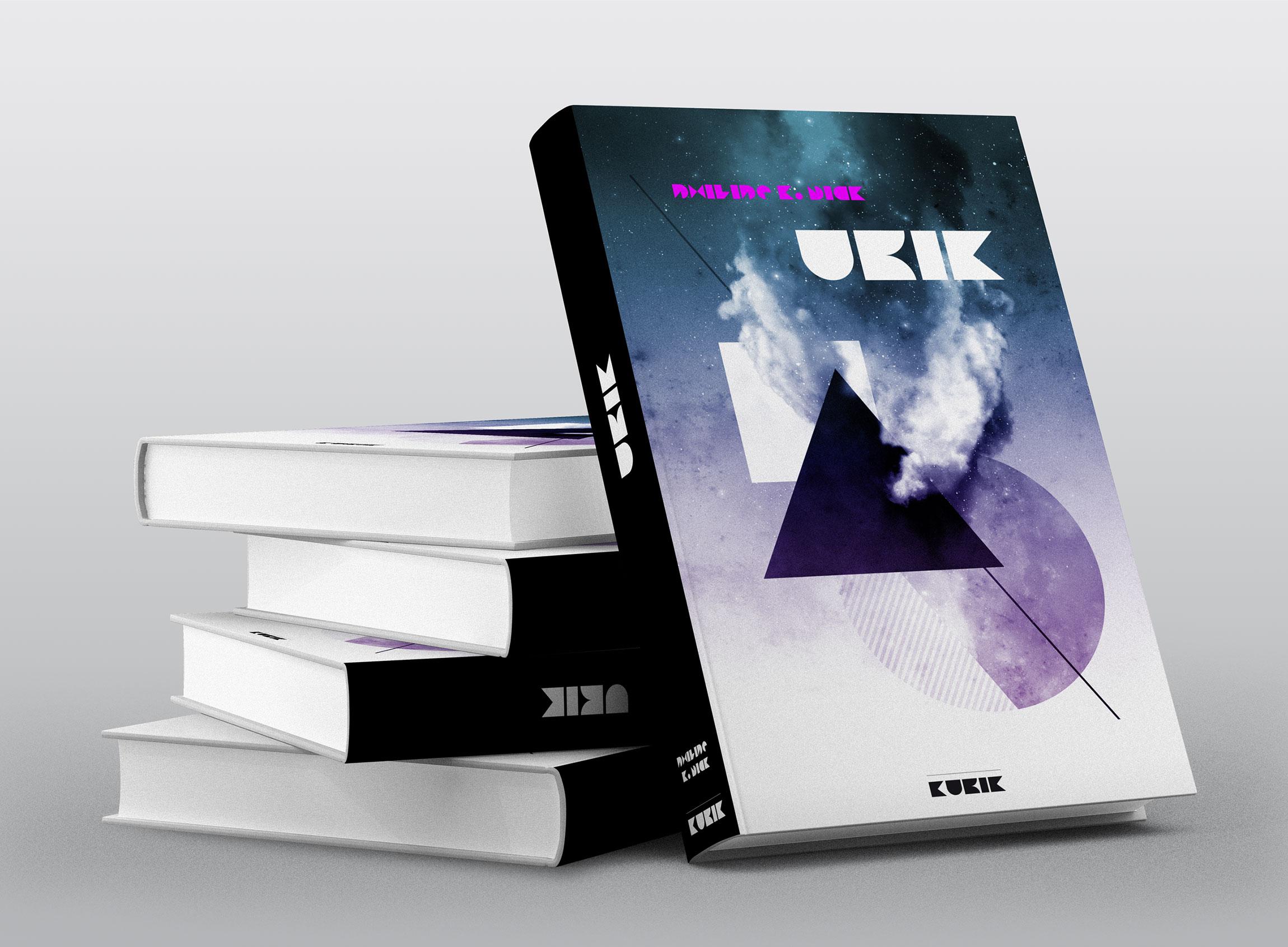Création couverture de livre UBIK de Philipe K.Dick pour KUBIK