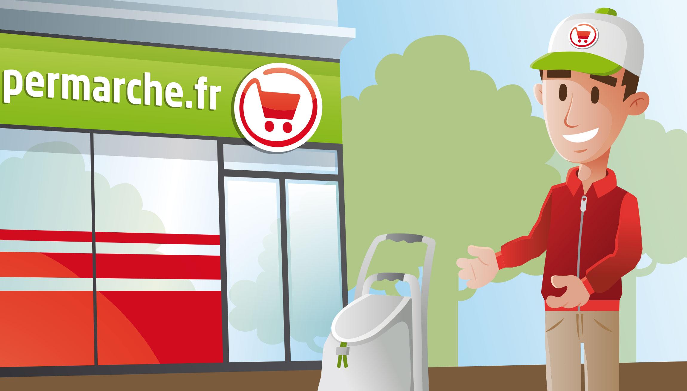 """Création illustration Mon supermarché """"Franprix"""""""