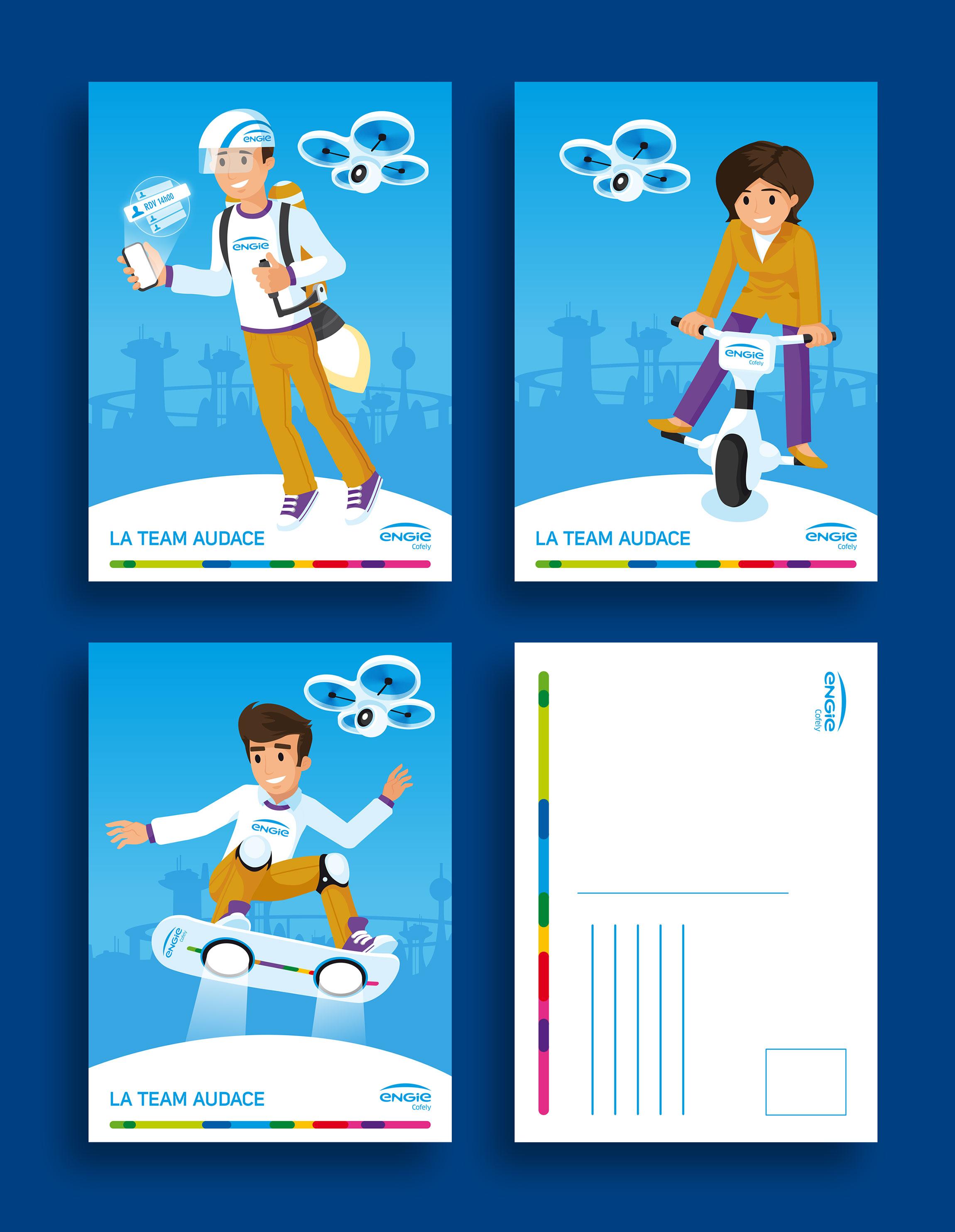 Création de cartes postales pour ENGIE Cofely