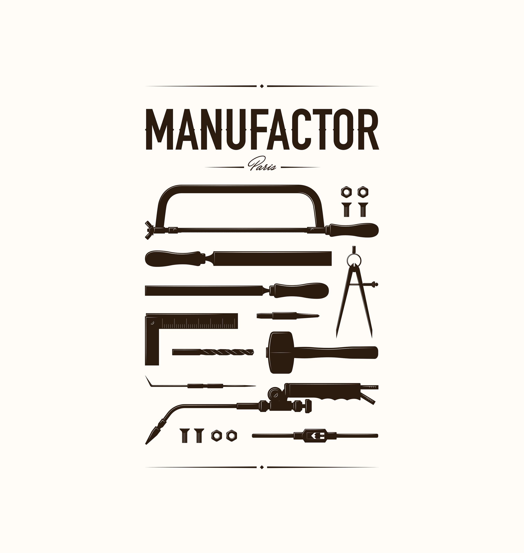 Création affiche, illustration pour MANUFACTOR