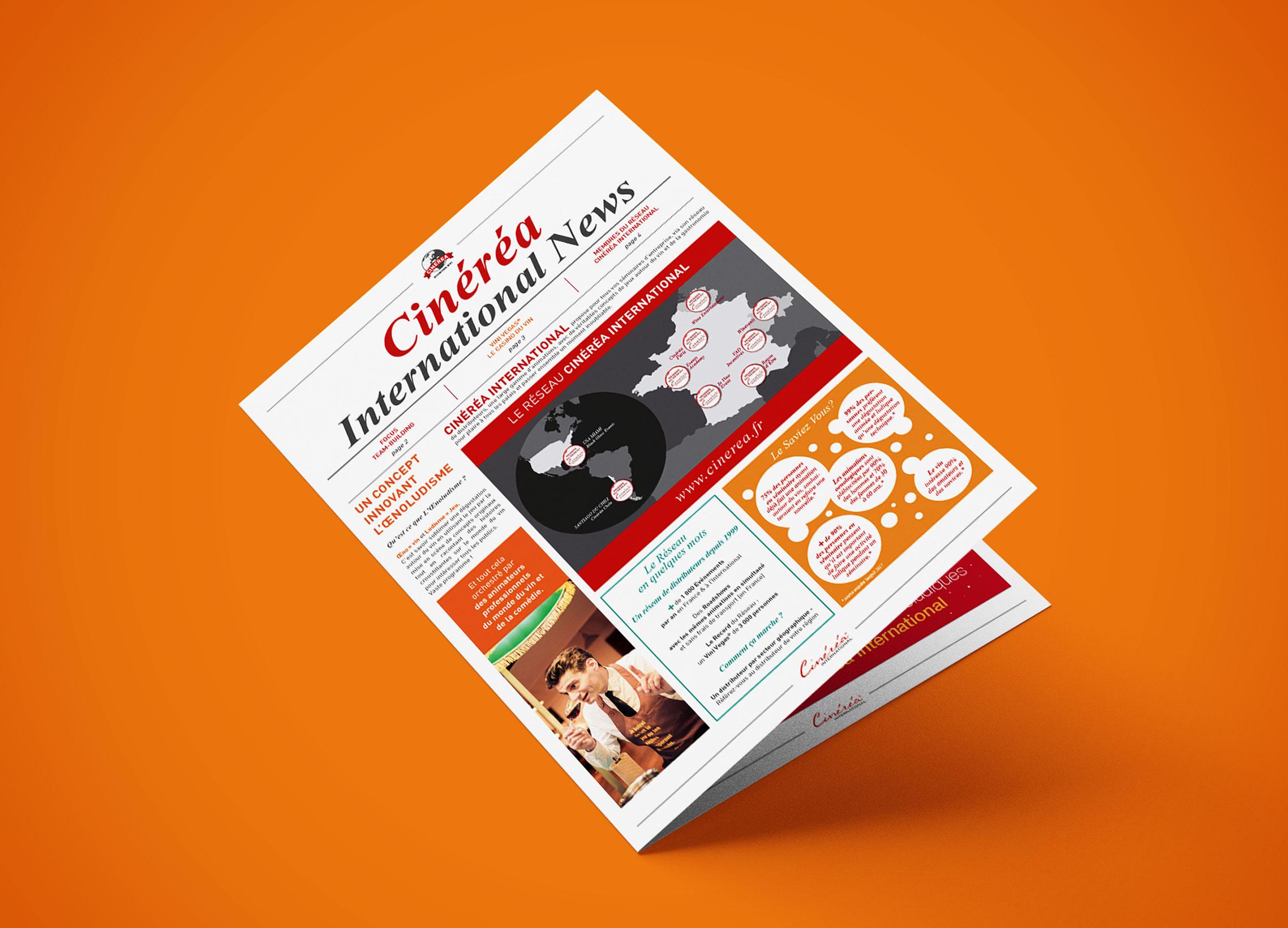 Création plaquette Cinéréa international news