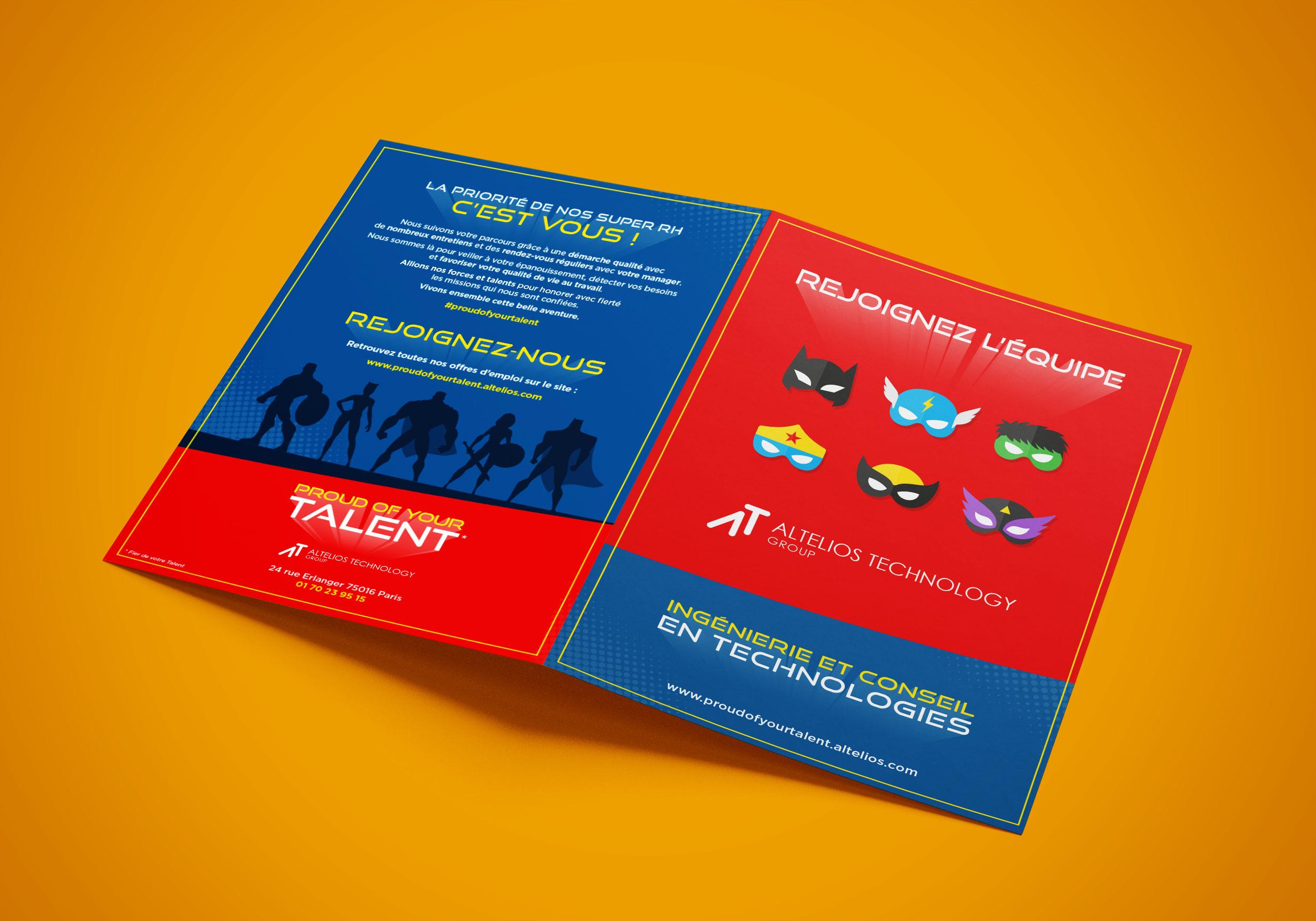 Création Plaquette, Leaflet A4 pour PROUD OF YOUR TALENT