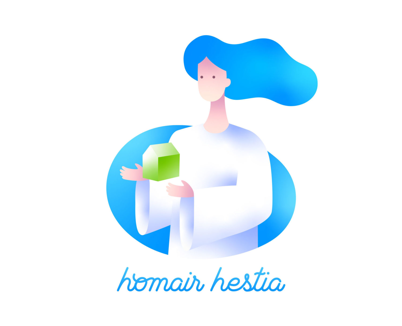 création de logo pour homair Hestia